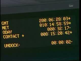 Ostatnia chwila przed odłączeniem... / Credits  - NASA TV