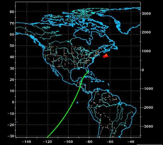 Trajektoria podejścia dla orbity 200 / Credits - NASA