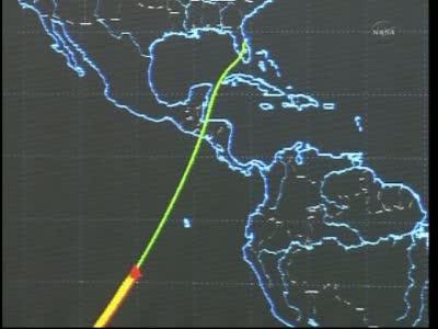 Atlantis przechodzi przez atmosferę - godzina 11:34 CEST / Credits: NASA TV