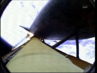 Odrzucenie rakiet SRB / Credits - NASA TV