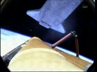 Odrzucenie zbiornika paliwa ET promu / Credits - NASA TV