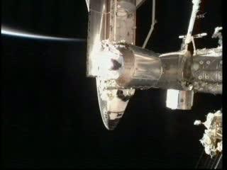 Wahadłowiec Atlantis po raz ostatni przybił do Stacji ISS / Credits: NASA TV