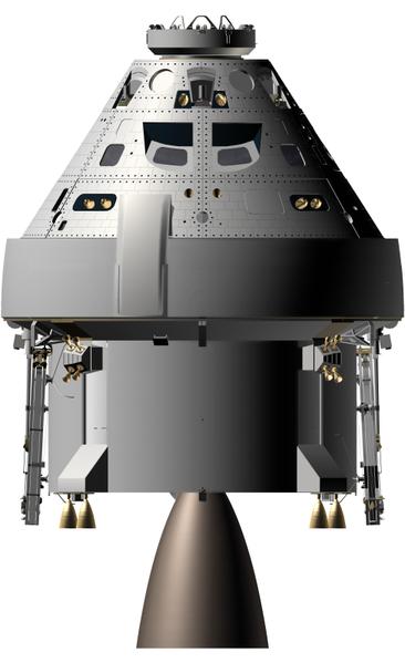 Kapsuła statku MPCV (Orion) budowana dla NASA / Credits - NASA