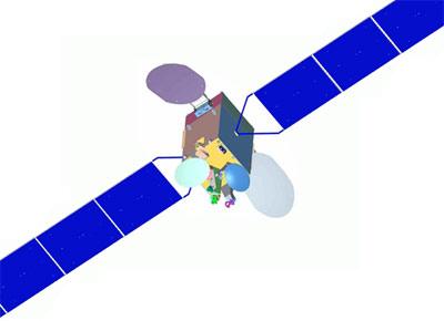 Wizualizacja satelity PakSat-1R / Credits: SUPARCO