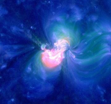 Rozbłysk klasy M1.7 z dnia 3 sierpnia 2011 / Credits - NASA, SDO