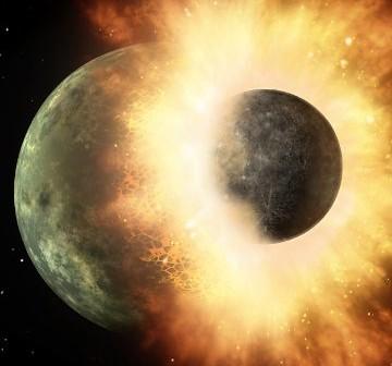 Zderzenie dwóch skalistych planet - czy coś takiego nastąpiło w układzie NLTT 43806? / Credits - NASA
