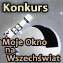 Logo konkursu Moje Okno na Wszechświat / Credits - ScopeDome