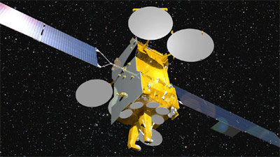 Eutelsat 3B - wizualizacja / Credits: EADS Astrium