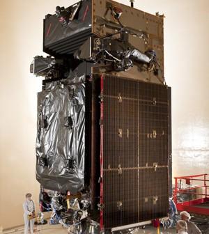 Przygotowania SBIRS GEO-2 do testów akustycznych / Credits: Lockheed Martin