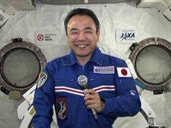 Satoshi Furukawa podczas rozmowy z premierem Japonii - Naoto Kanem / Credits: NASA TV