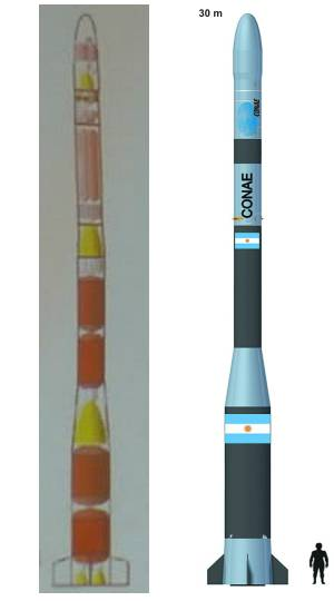 Schemat rakiety Tronador II / Źródło: Spacerockets