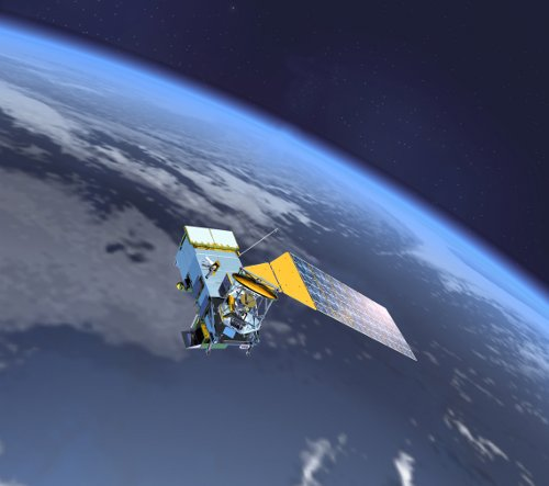 Satelita NPP - wizualizacja / Credits: NASA - domena publiczna