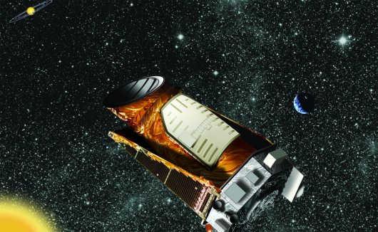 Wizja artystyczna kosmicznego obserwatorium Kepler (NASA)