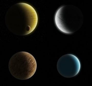 Wizje różnych planet pozasłonecznych / Credits - K. Kanawka