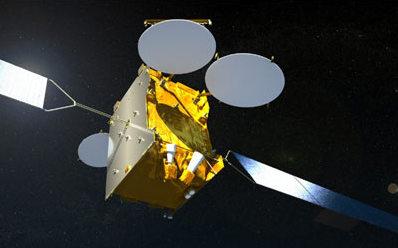 Wizja artystyczna satelity Arabsat 5C (EADS Astrium)