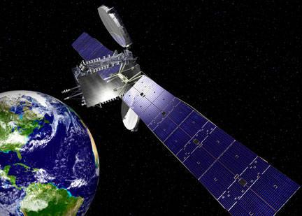 Wizja artystyczna satelity SES-2 (Orbital Sciences Corporation)