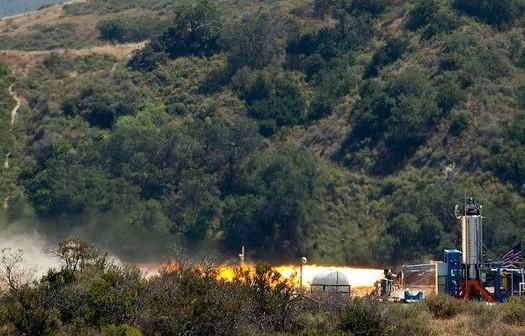 Testowe odpalenie silnika RocketMotorTwo / Źródło: Parabolic Arc