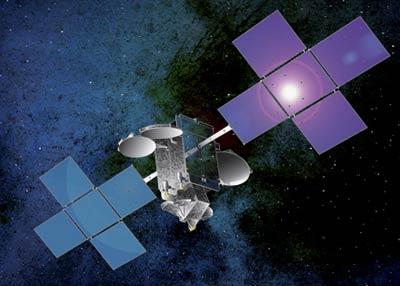 Hispasat-1E - wizualizacja / Credtis: Space Systems Loral