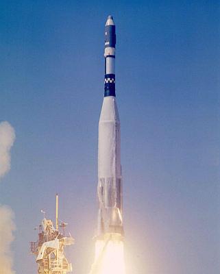 Start rakiety Atlas 7102 z satelitą Gambit 11 we wrześniu 1964 roku (siloworld.net)