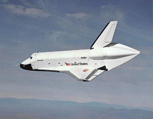 Jeden z pierwszych testów atmosferycznych promu Enterprise / Credits - NASA
