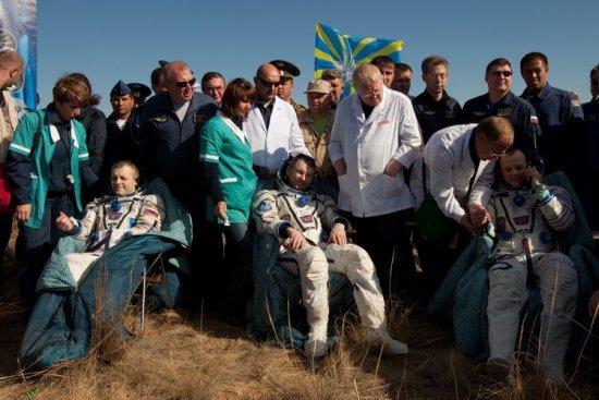 Podjęta załoga Sojuza TMA-21 / Credits: gctc.ru