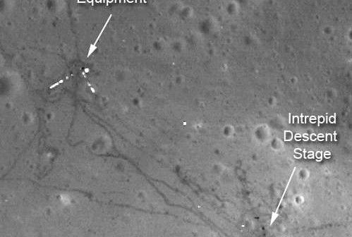 Miejsce lądowania misji Apollo 12 (NASA/Goddard/ASU)
