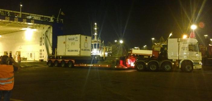 Nocny transport Vegi do portu / Credits: ELV