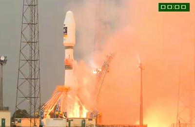 Start pierwszego Sojuza-ST z Gujany Francuskiej / Credits: Arianespace