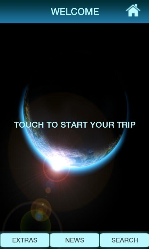 Ekran powitalny aplikacji Embrace Space / Credits: KE