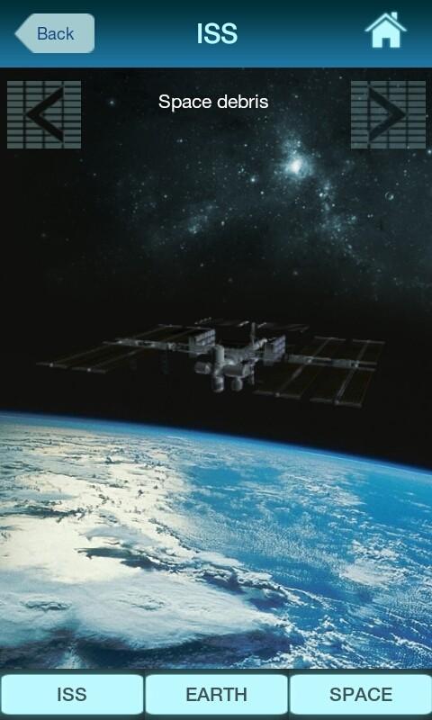 Ekran działu ISS, projekty związane ze śmieciami kosmicznymi / Credits: KE