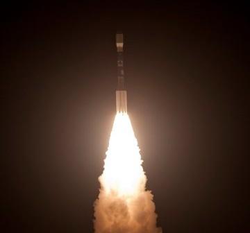 Start rakiety Delta II z NPP na pokładzie - 28 października 2011 / Credits - US Air Force