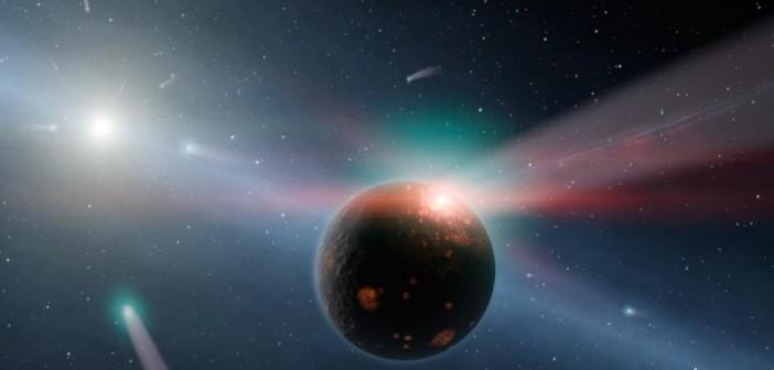 Młody układ gwiezdny o dużej ilości komet. Wizja artysty / Credit - NASA/JPL-Caltech