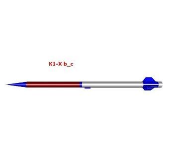 Wizualizacja rakiety K-1X / Credits - PTR