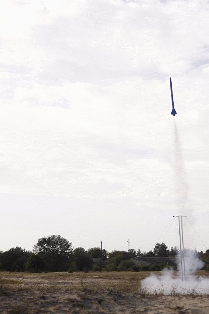 Próbny lot rakiety RTP4 / Credits - PTR