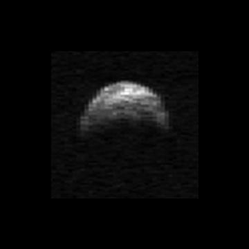 Radarowy obraz 2005 YU55, uzyskany 19 kwietnia 2010 roku / Credits - Arecibo Observatory,Michael Nola
