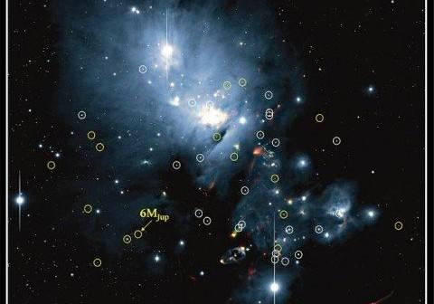 Żółtym kolorem zaznaczono nowoodkryte obiekty / Credit - NASA/JAXA