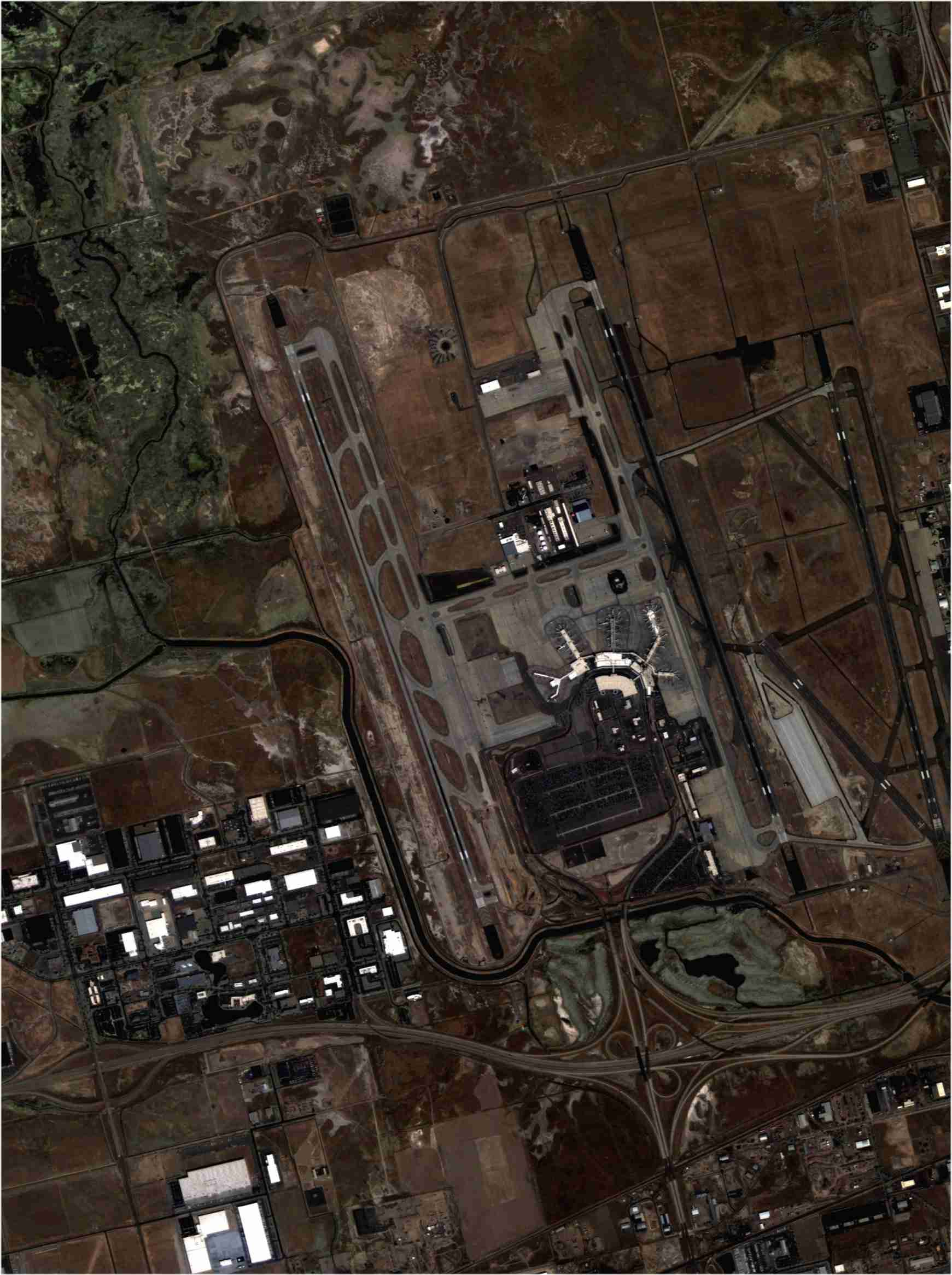 Lotnisko w Salt Lake City widziane przez NigeriaSat-2 / Credits: NASRDA