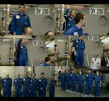 Uczestnicy eksperymentu Mars 500 po zakończeniu symulowanej wyprawy - 04.11.2011 / Credits - ESA