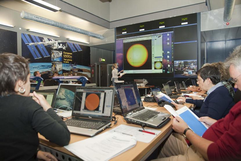 Warsztaty dla nauczycieli z wykorzystaniem danych z SOHO / Credits: ESA