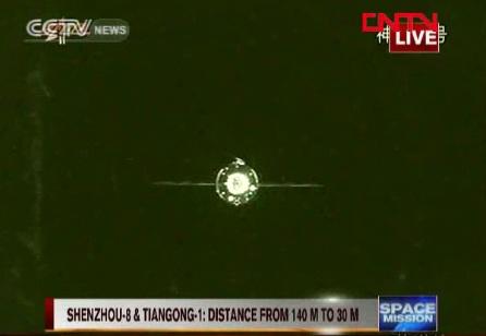 Transmisję z cumowania można było oglądać na żywo / Credits: CCTV