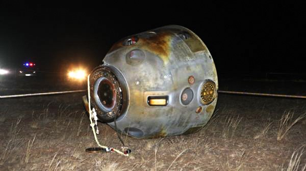 Kapsuła Shenzhou 8 po wylądowaniu / Źródło: Xinhua News Agency