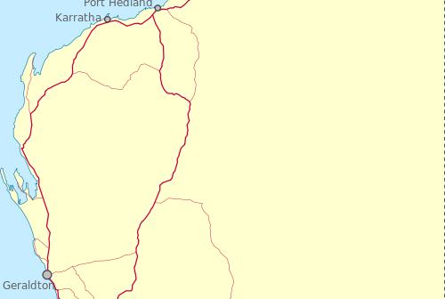 Dongara na mapie zachodniej Australii / Credits: WikiCommons, autorzy: Roke, Mark, Orderinchaos