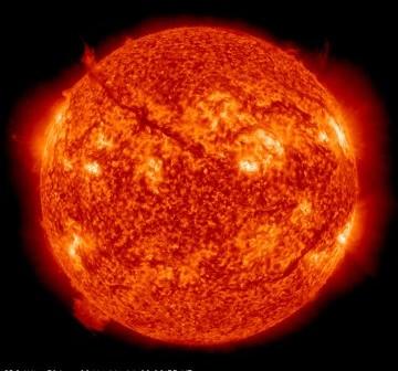 Wygląd Słońca przed erupcją włókna słonecznego / Credits - NASA, SDO