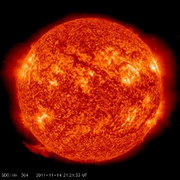 Wygląd Słońca po erupcji włókna słonecznego / Credits - NASA, SDO