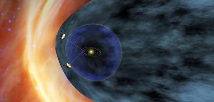 Sondy Voyager 1 i 2 na tle Układu Słonecznego / Credits: NASA