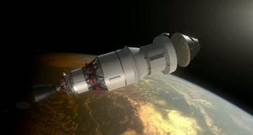 Artystyczna wizja jednego z etapów misji EFT-1 / Credits - NASA