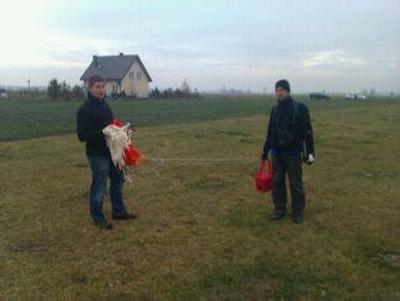 Ekipa pościgowa z podjętą kapsułą misji BOBAS-6 / Credits: Adam Piech i Krzysztof Kanawka