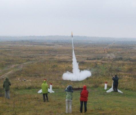 Start rakiety K1-X / Credits - PTR