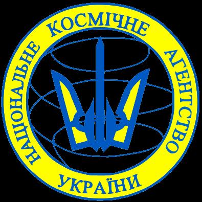 Logo Państwowej Agencji Kosmicznej Ukrainy (DKAU)