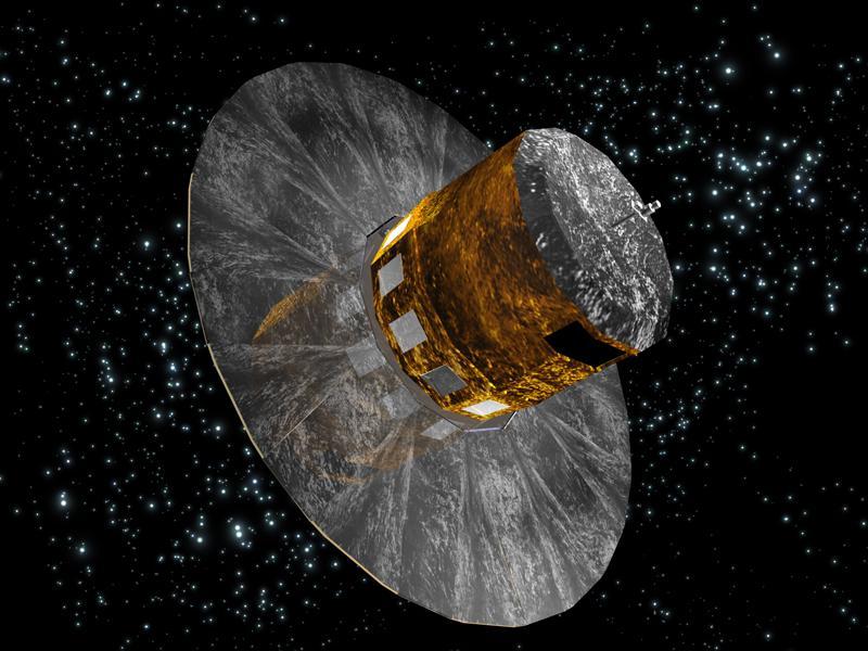 Gaia z rozłożoną osłoną przeciwsłoneczną - wizualizacja / Credits: ESA